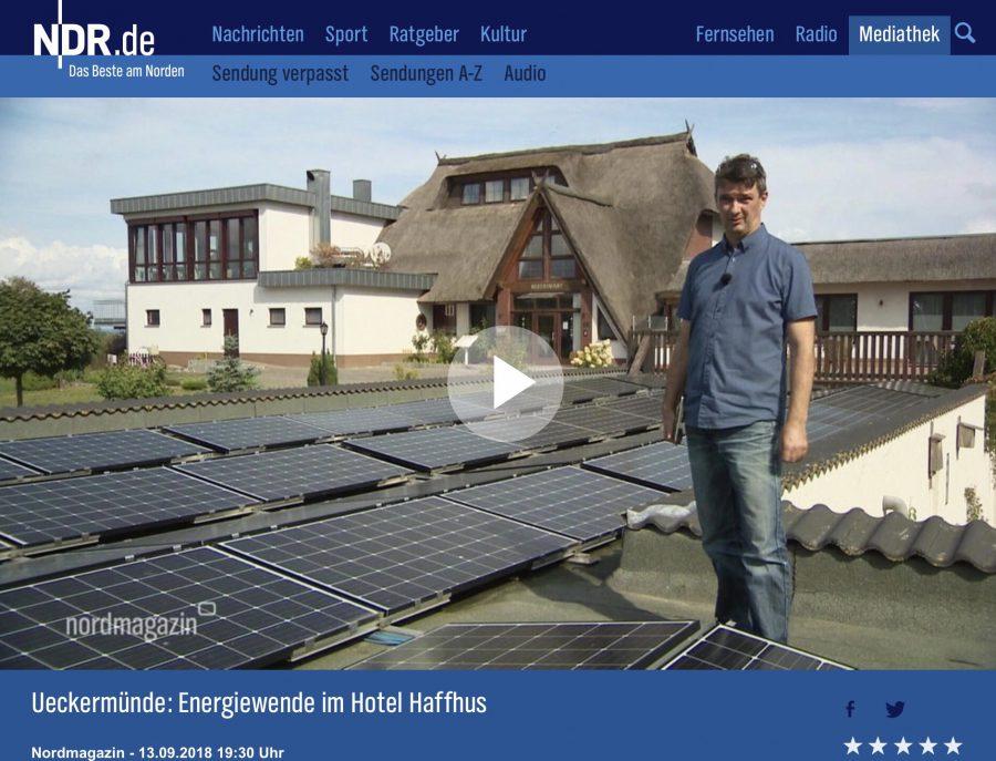 NDR Beitrag zur Energiewende im Haffhus