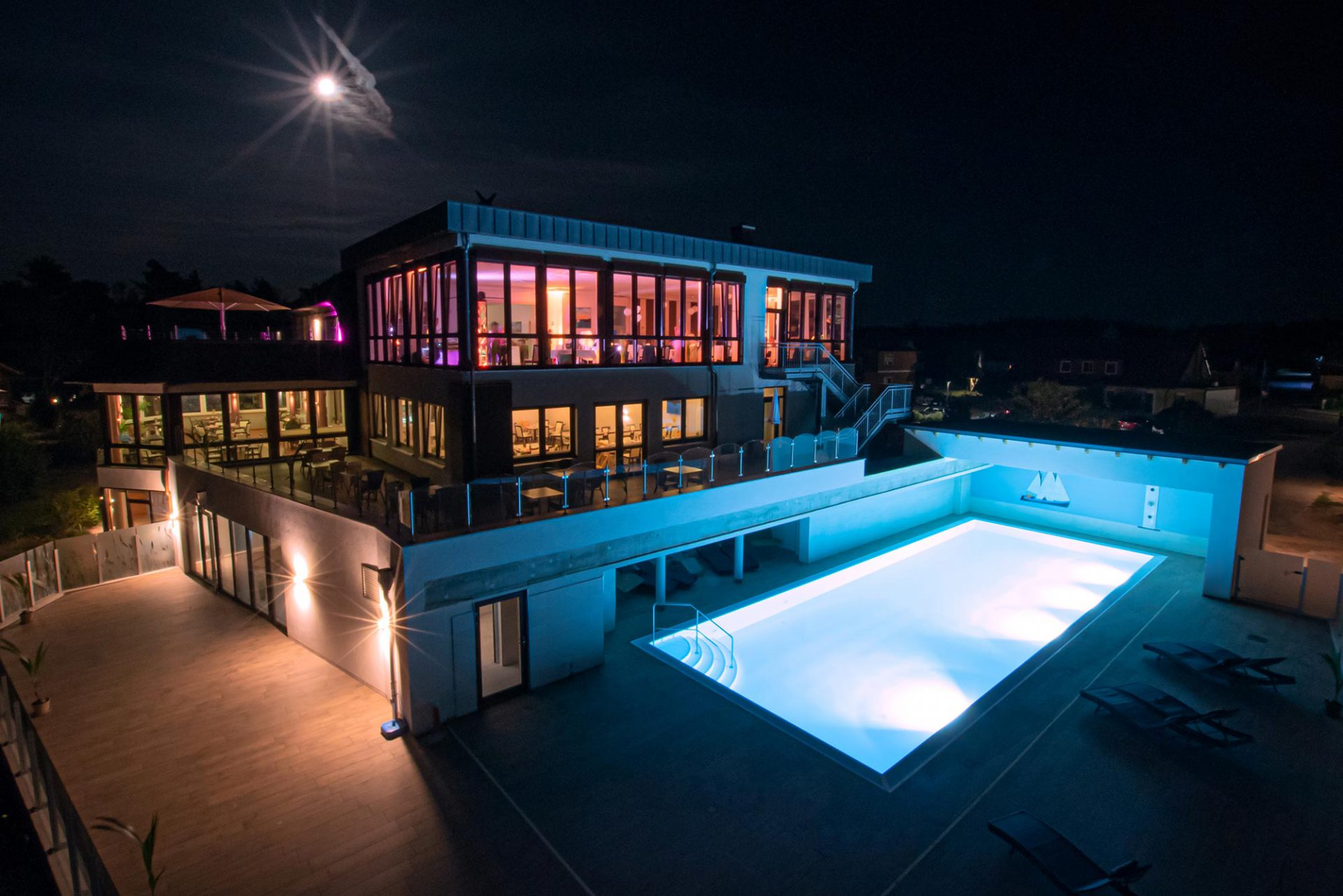 Haffhus Pool Nacht